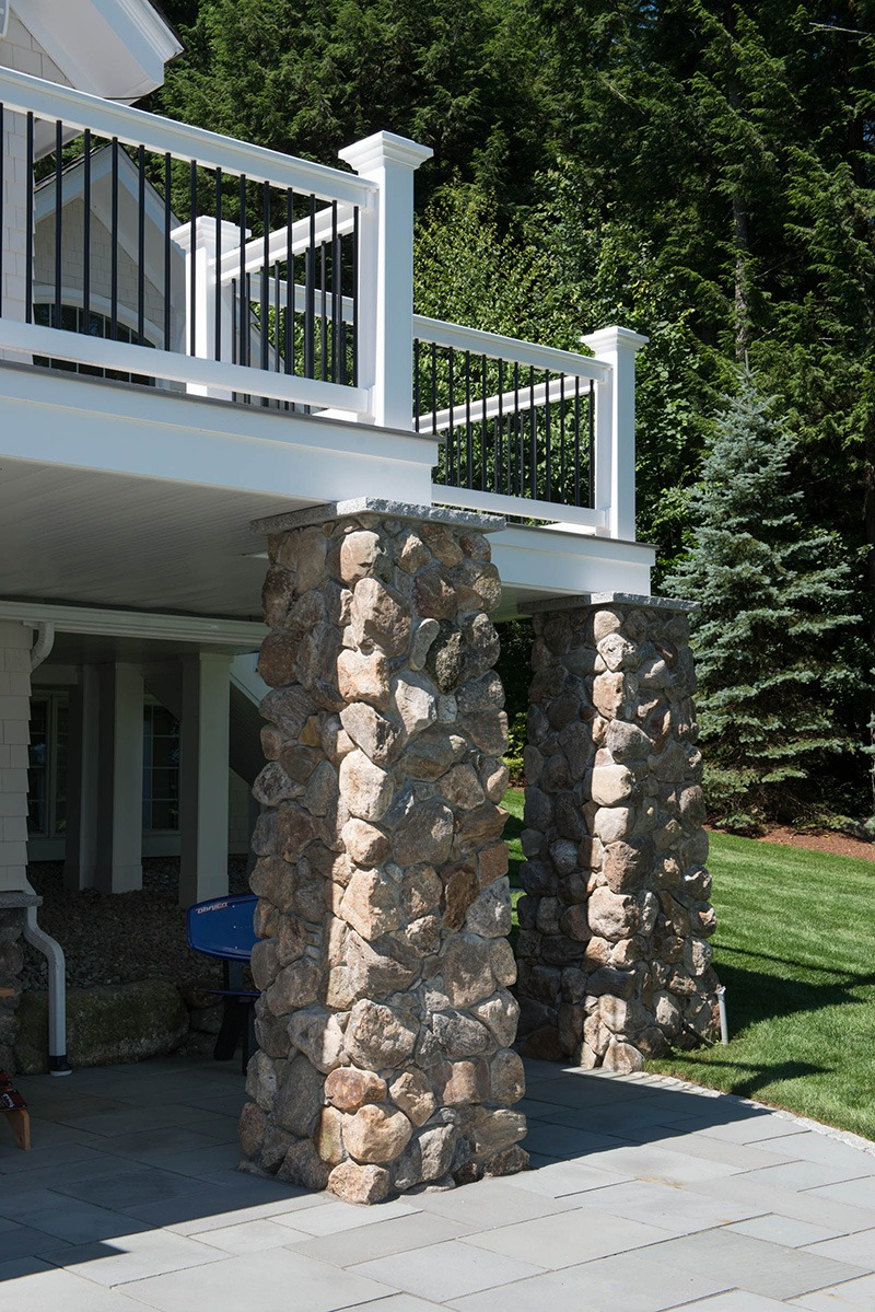 Exterior Stone Support Beams